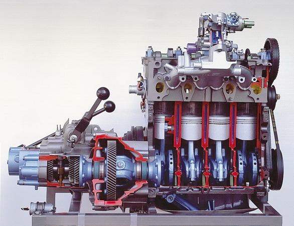 Doorsnede van een 2 6 liter motor for Autotechniek habers